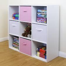 kids bedroom storage. Sentinel 9 Cube Kids Pink \u0026 White Toy/Games Storage Unit Girls/Boys Bedroom Shelves -