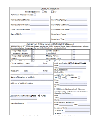 Incident Reporting Template Sample Incident Reporting Form 100 Free Documents Download in PDF Word 53
