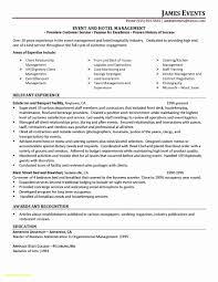 Hospitality Management Resume Inspirational Sports Management Resume ...