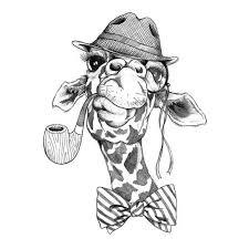 Hipsterská žirafa