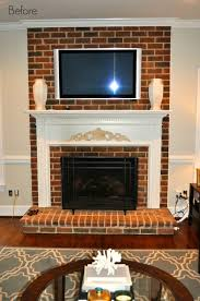 i m always amazed at what a little paint can do so today i m sharing our painted fireplace before after remember the old red brick