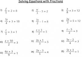 math worksheets multiple step equations worksheet solving multi with fractions answers variables on both