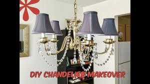diy room decor crystal chandelier makeover