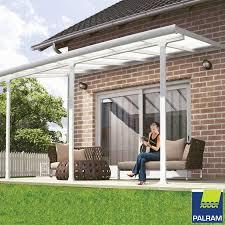 palram feria 3 veranda patio cover in white 3 x 4 25m