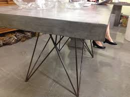 Concrete Top Dining Tables Modern Concrete Dining Table Mecox Gardens
