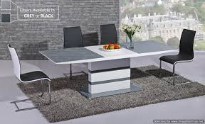 Furniture Mill Outlet Arctic Extending Dining Table In Grey From Giatalia    Extending Function   Very Stylish U0026 Contemporary Italian Dining:  Amazon.co.uk: ...