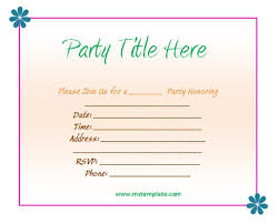 Word Party Invitation Templates Free Extraordinary Invitation Templates Word