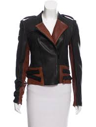 two tone leather jacket