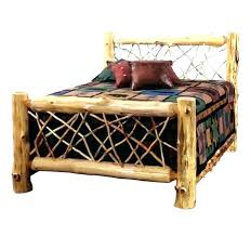 log bed frame queen – christiancollege