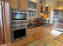 light wood cabinets in a contemporary kitchen remodel in the usa
