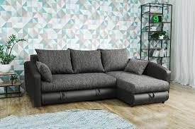 Moderne Wohnlandschaft Sofa Couch Ecksofa Eckcouch In Schwarz Young 1 Lr