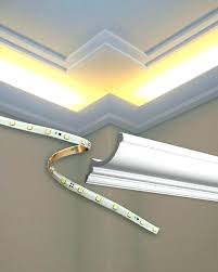various led crown molding install led rope and indirect lighting in foam