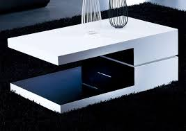 white and black rectangular high gloss contemporary coffee table in famous swivel coffee tables gallery