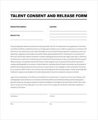 Talent Release Form Template
