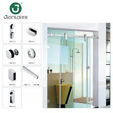 economical frameless sliding shower