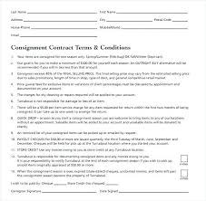 consignment form for cars consignment sales contract template contactory co