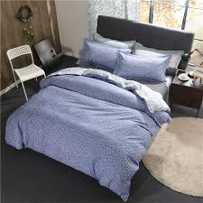 blue and white rectangle pattern polyester fiber duvet cover flat bed sheets pillowcase king queen full twin bedding set red bedding kids comforter sets