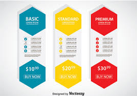 Pricing Template Pricing Table Free Vector Art 3997 Free Downloads