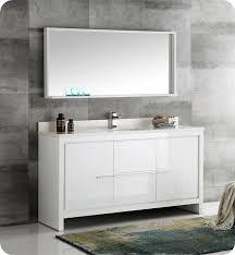 Single white bathroom vanities Vessel Sink Fresca Fvn8119whs Allier 60 Decorplanetcom Fresca Fvn8119whs Allier 60