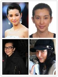 chinese stars without and with makeup 13