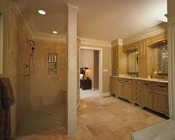 bathroom walk shower. In This Award Winning Master Bathroom, A Curved Block Wall Separates The Walk-in Bathroom Walk Shower