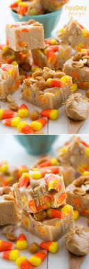 payday fudge peanut er fudge with candy corn and peanuts