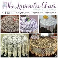 5 free tablecloth crochet patterns