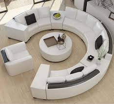 Please be patient to wait for the other parcel if only one parcel arrives. Amazon Com Modern Curved Top Grain Round Leather Sofa Living Room Kitchen Dining
