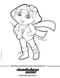 Coloriages Coloriage Dora En Hiver Fr Hellokids Com