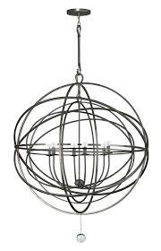 crystorama solaris i ing hampt 6 light bronze sphere chandelier ii mini 9226 eb