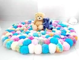 unicorn coloured pom rug girls bedroom fluffy teen girl rugs furniture row credit card
