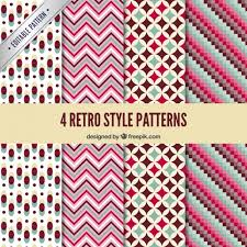 Retro Pattern Classy Geometric Retro Patterns Vector Free Download