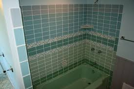 bathrooms with glass tiles. Fabulous Green And Blue Subway Tile For Wall Panel Small Space Bathroom Ideas Added Rectangle Bathtubs Also Corner Caddy Bath Bathrooms With Glass Tiles H