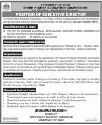 Executive Director Jobs In Sindh Higher Education Resume Examples