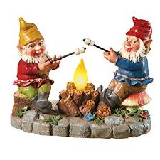 amazon collections etc solar cfire light garden gnomes with s mores statue light up yard art garden outdoor