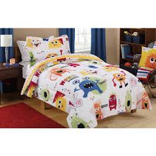 mainstays kids monster mix bed in a bag coordinating bedding set com