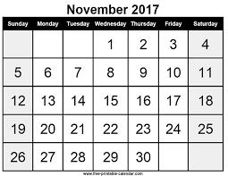 free printable calendar november 2017 free printable calendar com