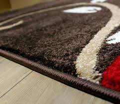 flower pattern rug red black green beige brown