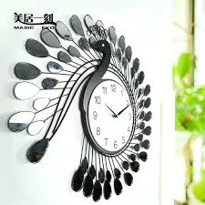 Decorative Wall Clocks Large Moment Peacock Creative Wall Clock Decorative Clocks  Bedroom Living Room Wall Clock