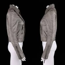 balenciaga a w 2008 gray genuine lambskin leather motorcycle jacket size 38 in excellent condition