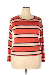 Charlotte Russe Shoe Size Chart Details About Nwt Charlotte Russe Women Orange Long Sleeve T Shirt 1 X Plus