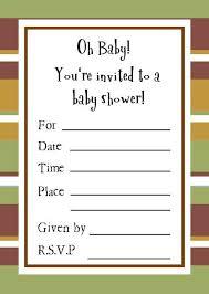 Cute Sample Baby Shower Invitations