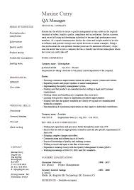 Inspector Resume Plant For Quality Control Qc Supervisor Examples
