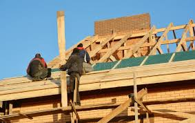 Roofing Contractors Installing House Framework, Roof Board For Asphalt  Shingles. Roofing Contractor. Roofing Construction. Roof Stock Photo -  Image of roofer, estate: 166262480