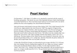 the attack on pearl harbour gcse history marked by teachers com document image preview