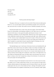 ancient rome compare and contrast essay