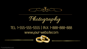 Wedding Photography Business Card Template Postermywall