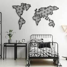 liv metal world map metal wall decor