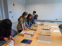 job shadow day at rauner library library muse inspiring ideas ilana grallert processing specialist invited the students to examine her work area where she was in the midst of reprocessing the sinclair weeks papers