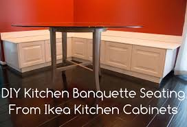 Building A Kitchen Cabinet Diy Kitchen Banquette Bench Using Ikea Cabinets Ikea Hacks
